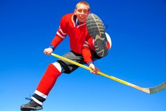 Colorado hockey trick Stock Photo