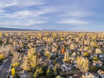 Colorado homes aerial view Royalty Free Stock Photo