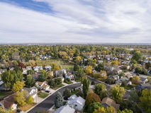 Colorado houses aerial view Royalty Free Stock Photography