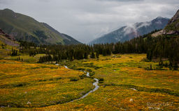 Colorado ice lake basin wilderness near Animas river Stock Photo