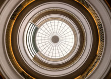 Colorado Judicial Center Inner Dome. Inner dome of the Ralph L. Carr Colorado Judicial Center from the rotunda floor in Denver, Colorado royalty free stock photography