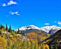 Colorado kleurt in de herfst stock afbeeldingen