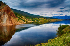 A Colorado Lake In Summer Stock Photography