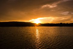 Colorado Lake Sunset Stock Images
