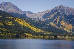 colorado lakes kopplar samman royaltyfria foton