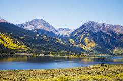 colorado lakes kopplar samman arkivbilder