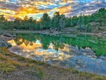 Colorado-Landschaftsreflexionen lizenzfreie stockfotos