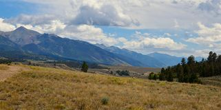 Colorado, Landschap: Ponchapas met Sangre DE Cristo Mountains royalty-vrije stock foto's