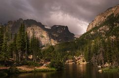 Colorado Loch Vale Mountain Royalty Free Stock Photos