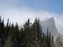 Colorado maxima med att blåsa för snö fotografering för bildbyråer
