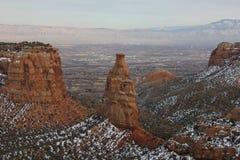 Colorado Mesa Country nell'inverno Immagine Stock