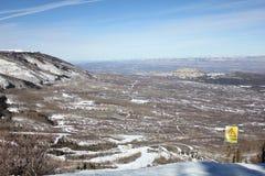 Colorado Mesa Country nell'inverno Immagini Stock