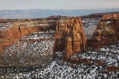 Colorado Mesa Country nell'inverno Immagine Stock Libera da Diritti