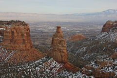 Colorado Mesa Country in Winter Stock Image