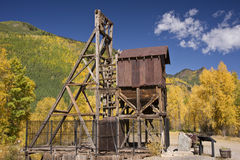 Colorado Mine in Autumn. Derelict mining operation in Colorao's spectacular San Juan mountaion range royalty free stock photos