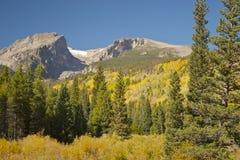 Colorado Montagne Rocciose nella caduta Immagine Stock