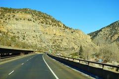 Colorado mountain. Colorado winter landscape: mountain and the highway Stock Photo