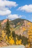 Colorado Mountain Highway in Autumn Stock Photos