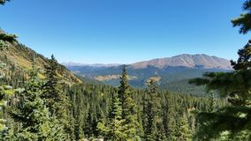 Mountain hike landscape in Colorado. Colorado Mountain hiking landscapes view from the top royalty free stock images