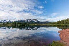 Colorado Mountain Lake Landscape at Sunrise stock image