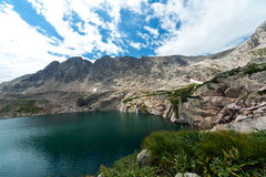 Colorado Mountain Lake and Waterfall Stock Photo