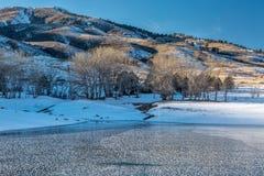 Colorado mountain lake in winter Royalty Free Stock Image