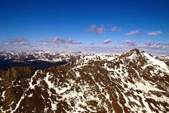 Colorado Mountain Peaks. Mountains with snow and sky in colorado along the continental divide Royalty Free Stock Images