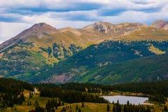 Colorado Mountain Peaks Summit San Juan Range. Landscape shot of the gorgeous san juan mountains , in southwest colorado near durango. Lake in the foreground and Stock Image