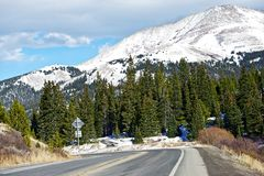 Colorado Mountain Road Royalty Free Stock Photo