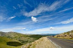 Colorado Mountain Road Stock Photography