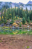 Colorado Mountain Scenic Reflection in Fall Stock Photography