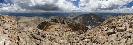 Colorado Mountain Summit Panorama Royalty Free Stock Photos