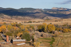 Colorado mountain village and farmland Stock Images