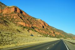 Colorado mountain. Colorado winter landscape: mountain and the highway Stock Photos