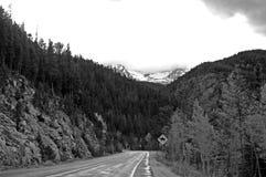 Colorado Mountains. Black and White Stock Photography