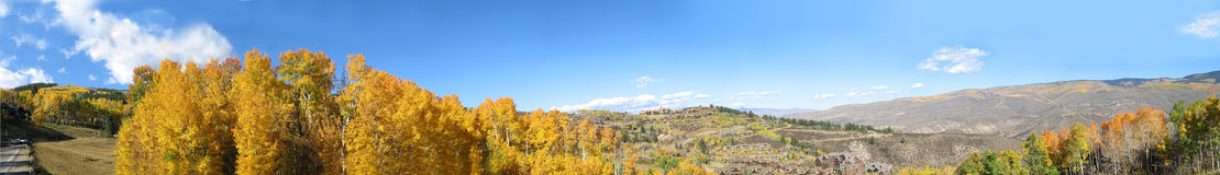 Colorado Mountains 5. Panoramic view of the Colorado mountains in the fall Royalty Free Stock Image