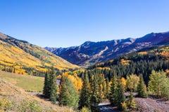 Colorado Mountains in Autumn Royalty Free Stock Photography