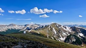 Colorado mountains from Cottonwood Pass. Near Boulder and  Denver.  Colorado. United States Royalty Free Stock Photos