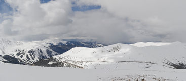 Colorado mountains covered with snow Royalty Free Stock Photo