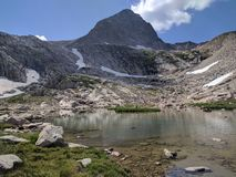 Colorado mountains and pond Royalty Free Stock Image