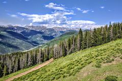 Colorado mountains. On a nice sunny day Royalty Free Stock Photo