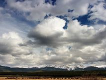 Colorado Mountains and Sky Royalty Free Stock Image