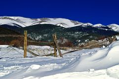 Colorado Mountains in Winter royalty free stock photo