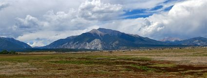 Colorado, Mt. Princeton, a Mountain in the Sawatch Range. Mount Princeton. at 14197 feet - 4327 m- is one of 15 peaks in the Sawatch Range exceeding 14000 feet stock images