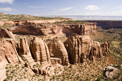 Colorado National Monument. A view of Colorado National Monument from Rim Rock Drive Stock Image