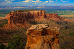 Colorado National Monument at Sunset Stock Images