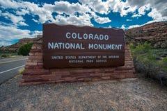 Colorado nationell monument, Colorado Arkivbild
