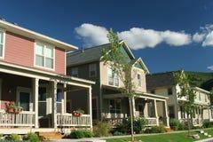 Colorado neighborhood. Neighborhood view in Colorado USA Royalty Free Stock Images