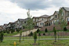 Colorado neighborhood. Neighborhood view in Colorado USA Stock Images