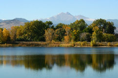 Colorado Open Space. A scenic view of Colorado's open space with Long's Peak in the background stock photo